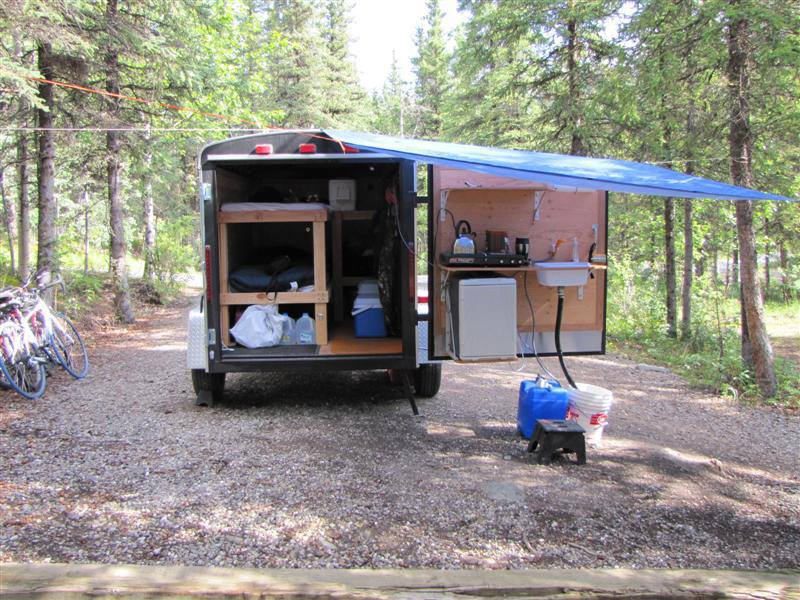 Perfect 6x10 enclosed trailer for trailing/camping - GL1800Riders EP75