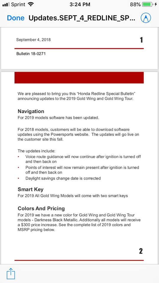 Software Updates - GL1800Riders