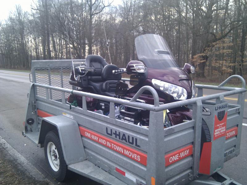 U Haul Motorcycle Trailer Compatibility Gl1800riders