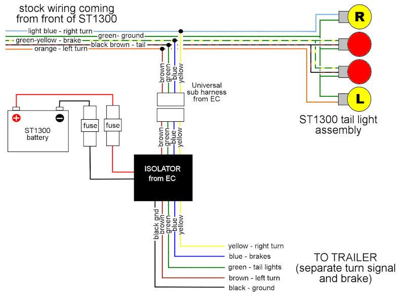 Motorcycle Trailer Wiring Isolator on harley relay wiring diagram, harley stereo wiring diagram, harley chopper wiring diagram, harley radio wiring diagram, harley golf cart wiring diagram, harley headlight wiring diagram, harley air ride wiring diagram,