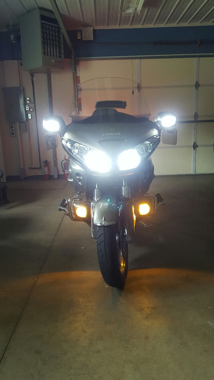 Pathfinder H7 LED Headlight Replacement Bulbs for Honda GL1800 /& F6B